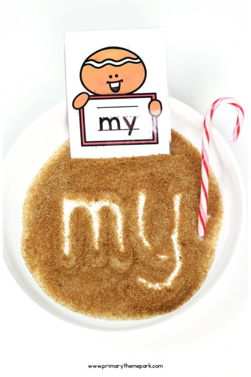 Gingerbread Writing Center Idea
