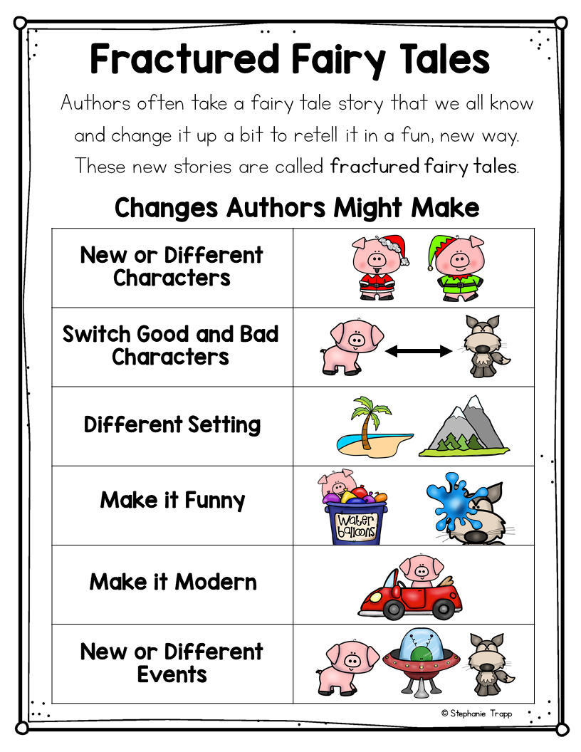 Fractured Fairy Tales Chart