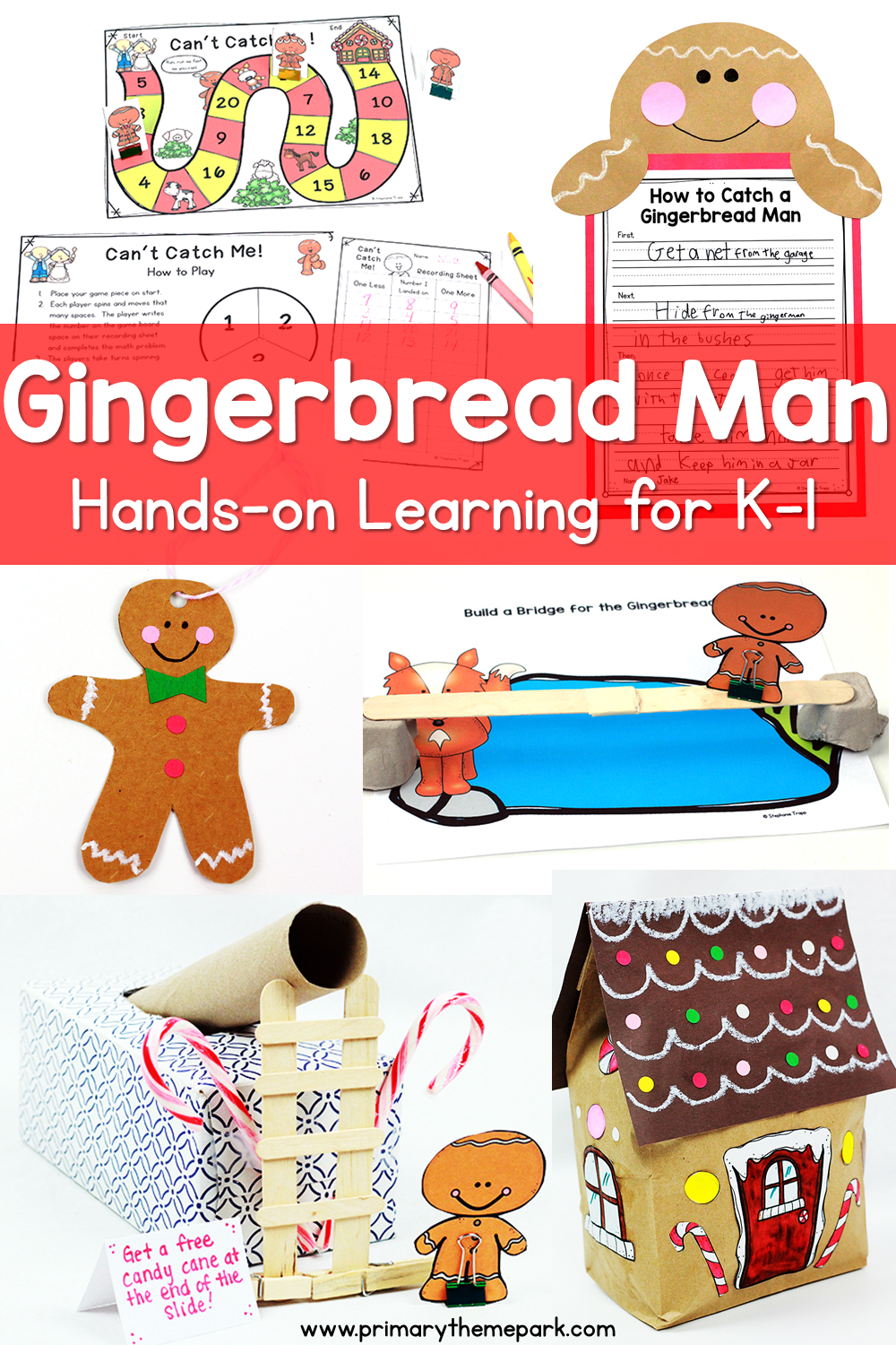 Gingerbread Man Unit Hands-On Learning for Kindergarten and First Grade