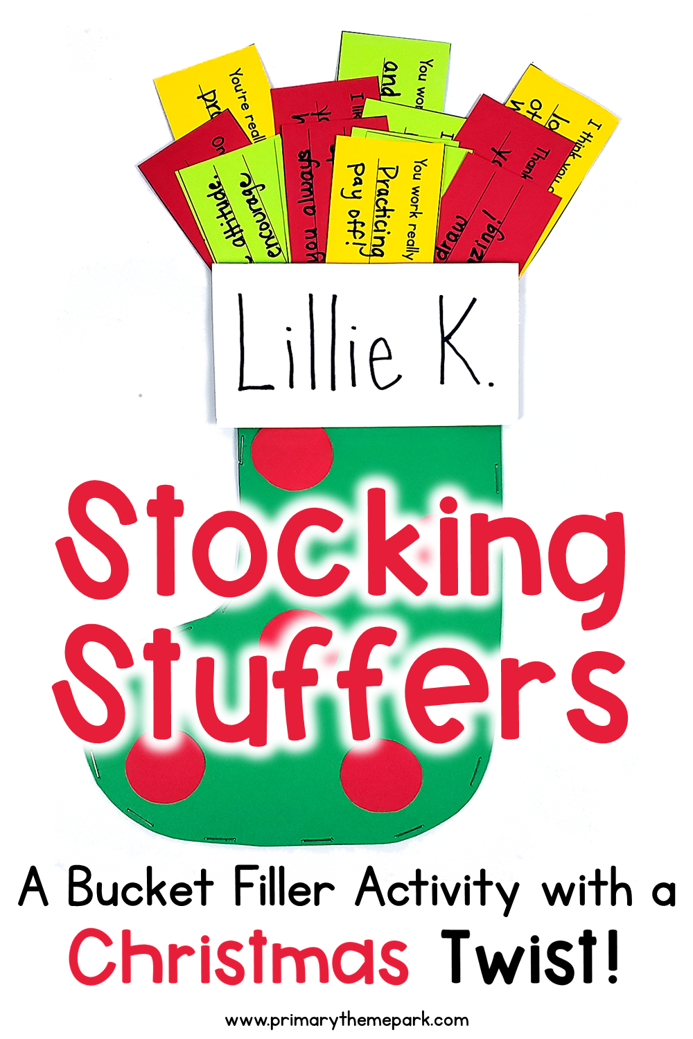 Stocking Stuffer Activity for Kids: A Bucket Filler Activity with a Christmas Twist! Includes free printable.