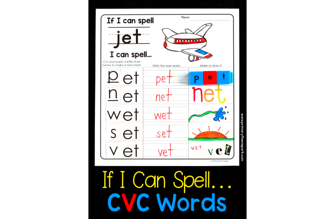 If I Can Spell CVC Words