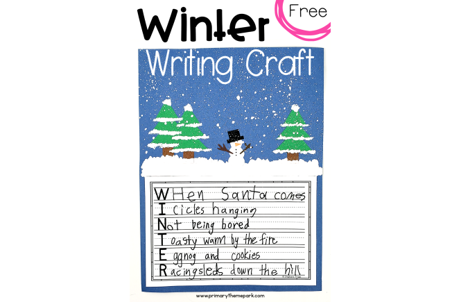 Free Winter Writing Craft