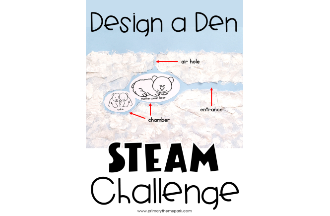Design a Den Polar Bear STEAM Activity