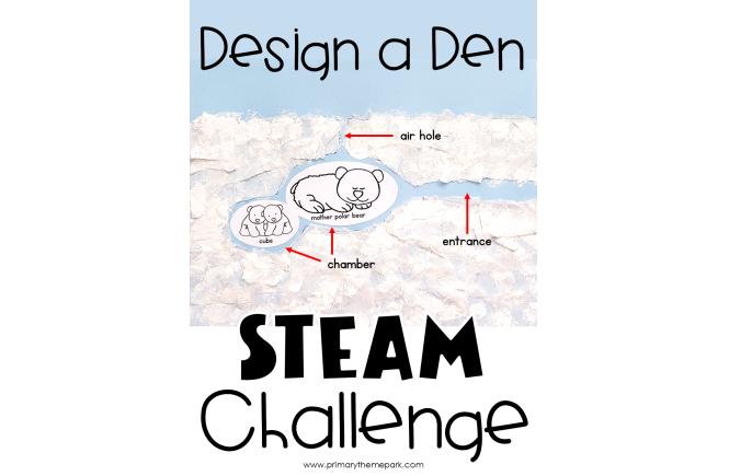 Design a Den Polar Bear STEAM Activity