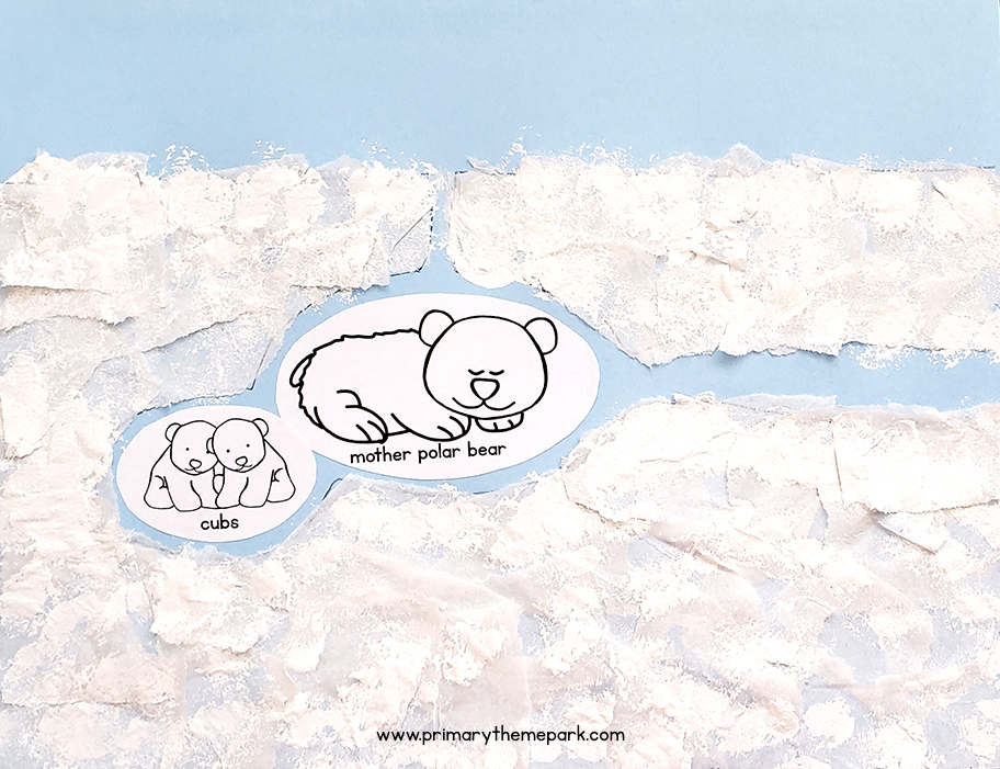 Polar bear activity for kids