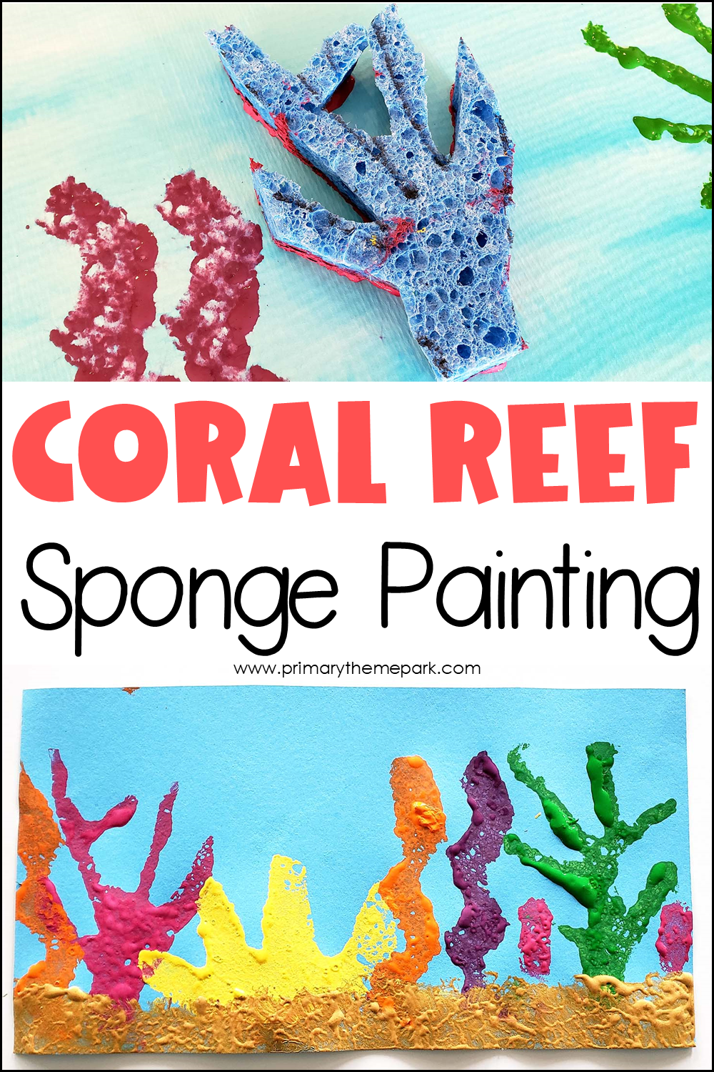 Coral Reef Art Project for Kindergarten and First Grade