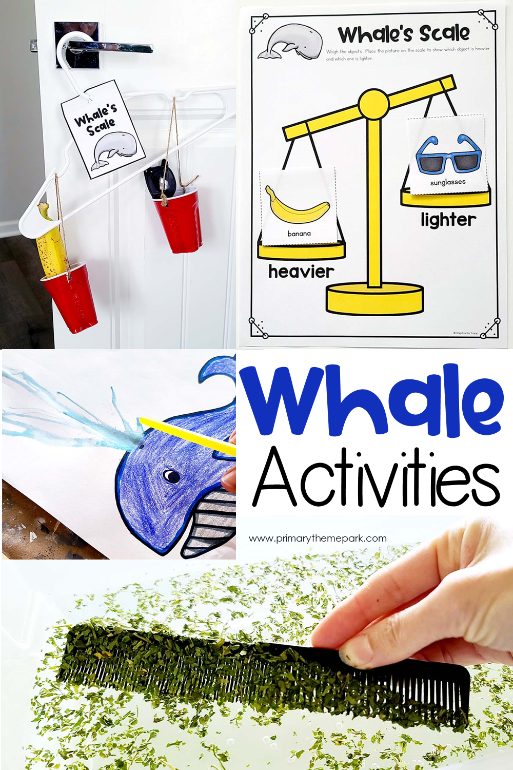 whale activities for kindergarten and first grade