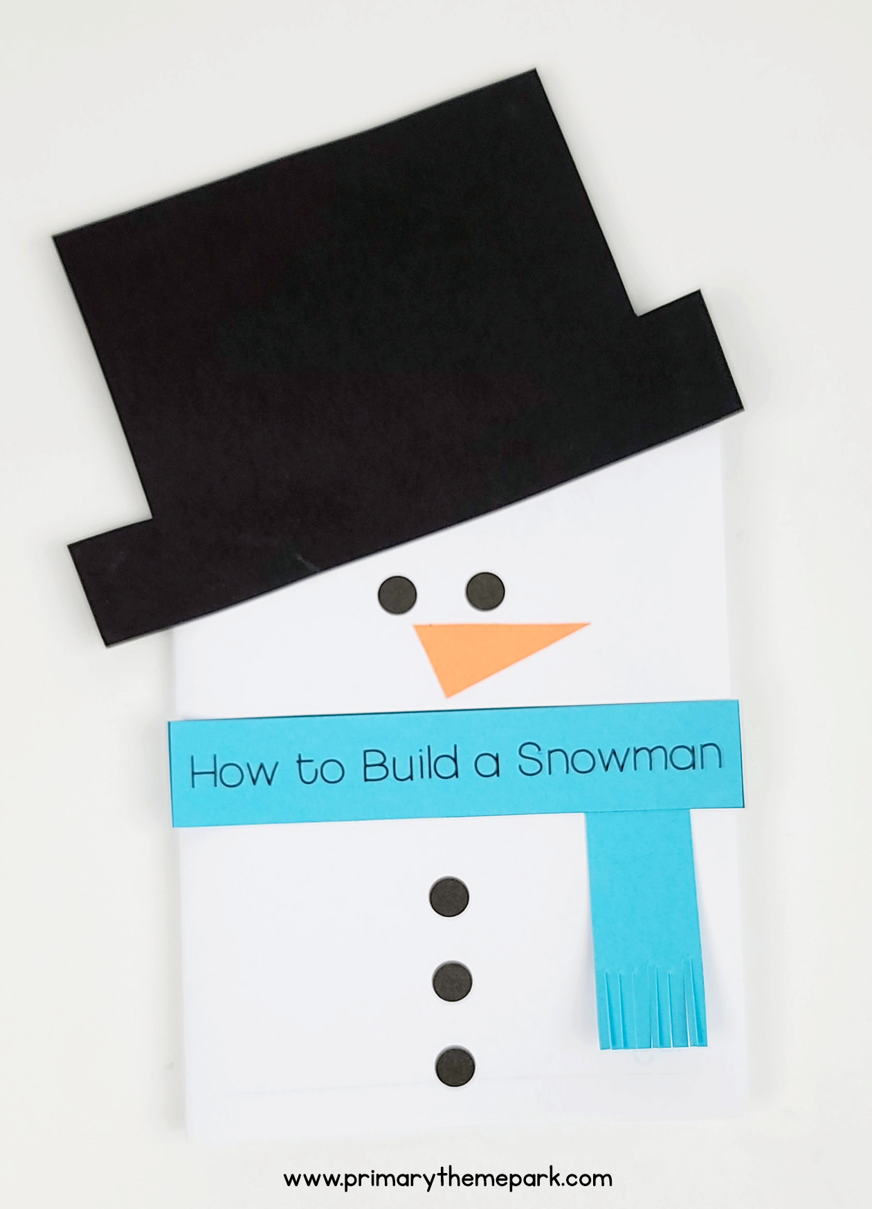 How to Build a Snowman Writing Activity for Kids