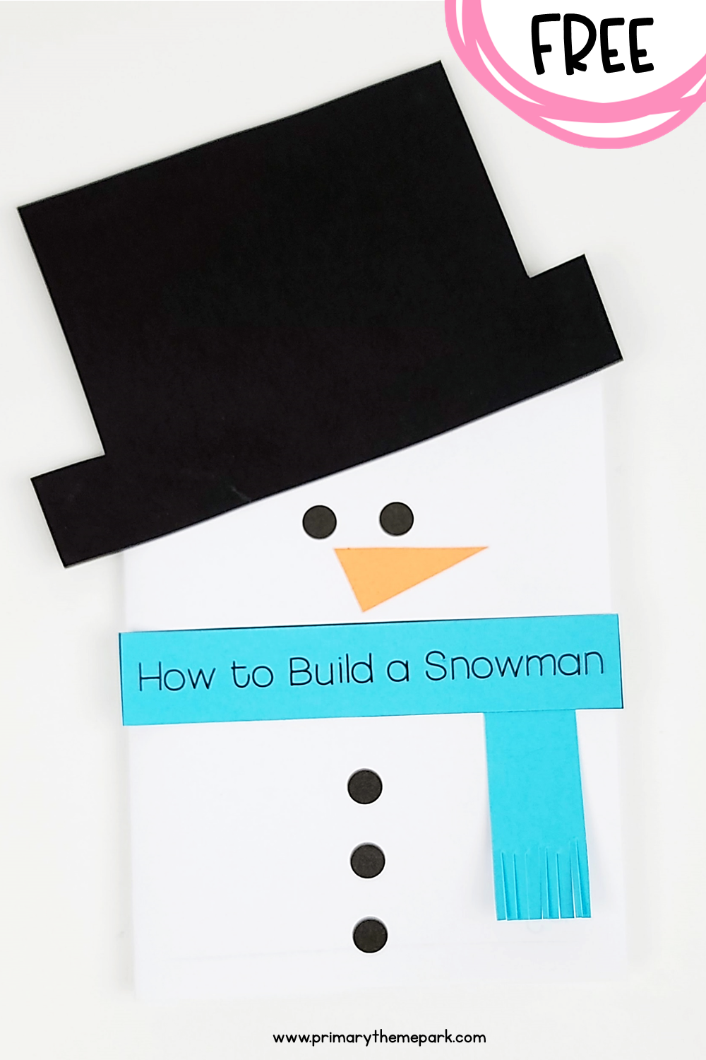 Free How to Build a Snowman Writing Activity for Kids